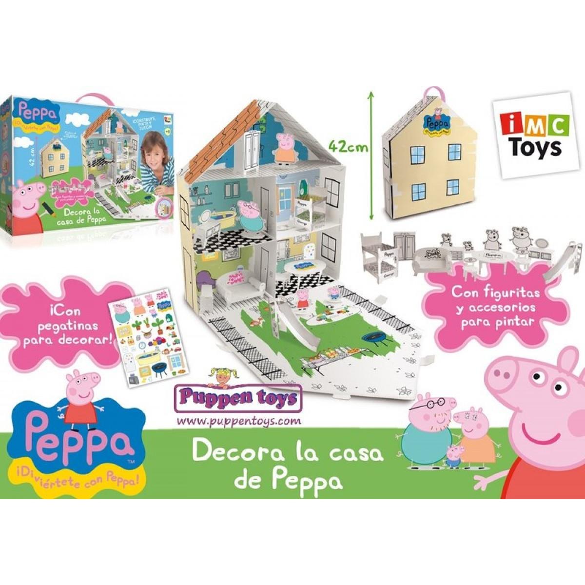 Peppa pig casa house casa da costruire e colorare di peppa pig 360129 - Casa da costruire ...