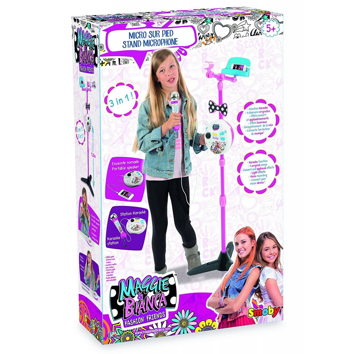 Smoby Maggie /& Bianca Microfono Karaoke 7600520116
