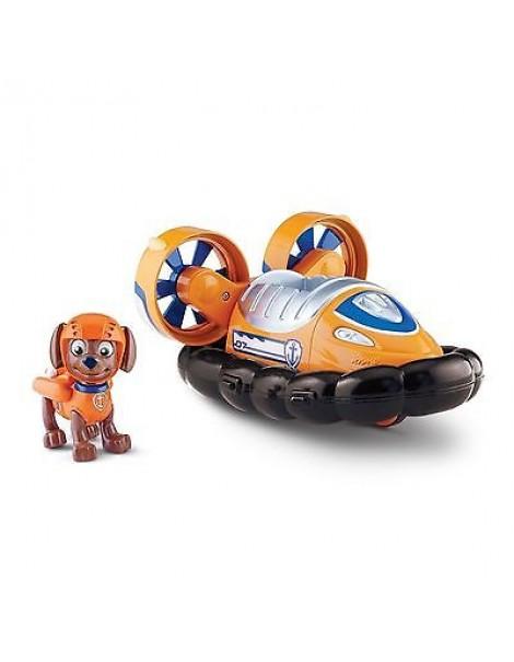 Nickelodeon Paw Patrol Personaggio con veicolo, Zuma e il suo hovercraft
