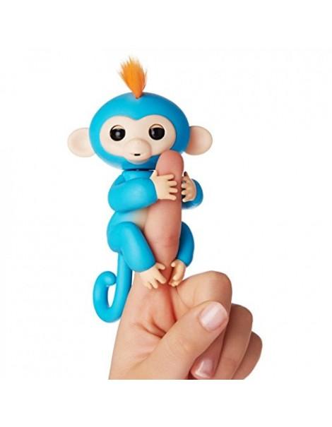 Fingerlings Monkey Scimmietta Bebè da dito Interattiva Boris (blu) di Giochi Preziosi