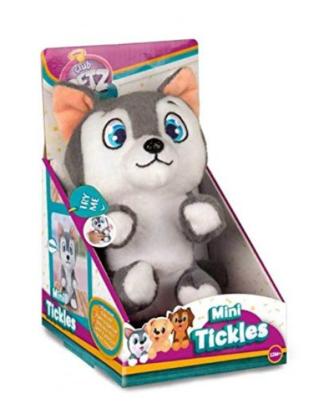 IMC Toys Club Petz Mini Tickles, Cuccioli Solleticosi, 96752IM3 (Lingua Italiana) Mini Tickles Club Petz Peluche solletico cane husky di IMC Toys