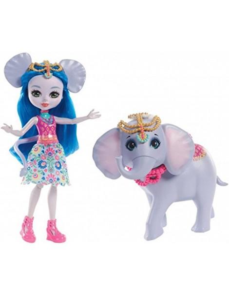 Enchantimals- Ekaterina l'Elefante e Antic - Cucciolo Cavalcabile di Mattel FKY73