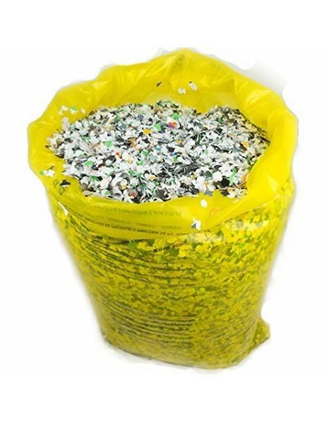 coriandoli in sacco da 10 kg economico , immagine con contenuto del sacco variabile