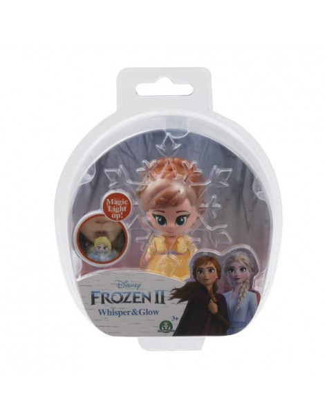 Disney Frozen 2 Whisper and Glow Single Blister Mini Doll Anna di Giochi Preziosi