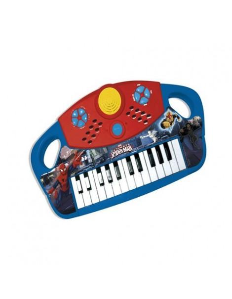 Piano grande Ultimate Spiderman - Uomo Ragno , tastiera funzionante a batteria - marvel