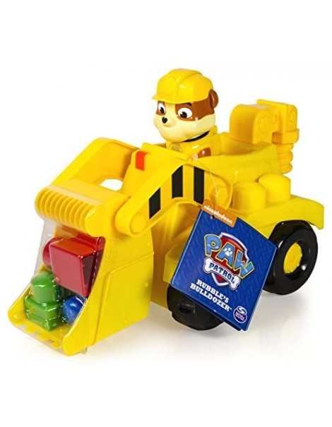PAW PATROL 6026140 - Bulldozer di Rubble, in Plastica, Giallo