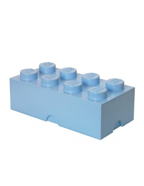 Lego  Contenitore 8 Brick, Plastica, Azzurro