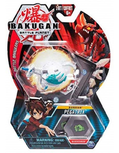 BAKUGAN ORIGINALE - 5cm Tall Action Figure e Trading Card - Pegatrix