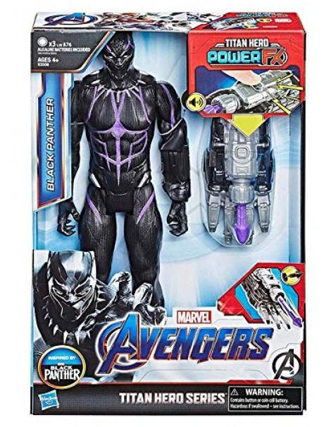 Marvel Avengers Endgame - Black Panther Titan Hero con Power FX Incluso, Hasbro E3306
