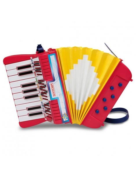 Bontempi AC 1780.2 - Fisarmonica 17 Tasti (Do-Sol) Con Diesis e 6 Bassi Con Tracolla