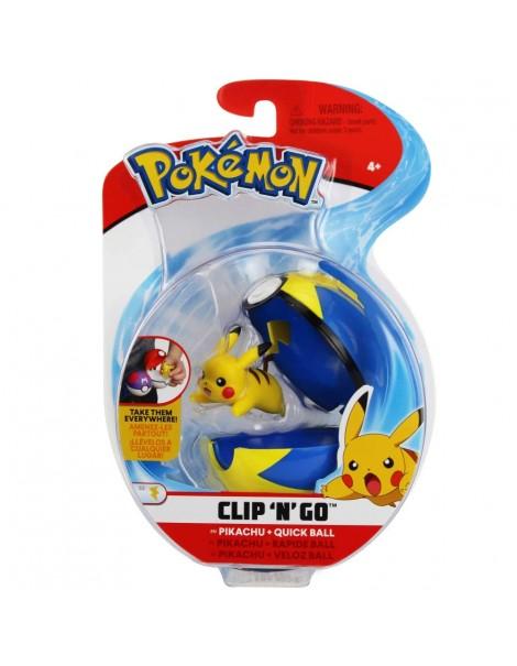 Pokemon Pikachu + Quick Ball Clip 'N Go di Giochi Preziosi  PKE10000