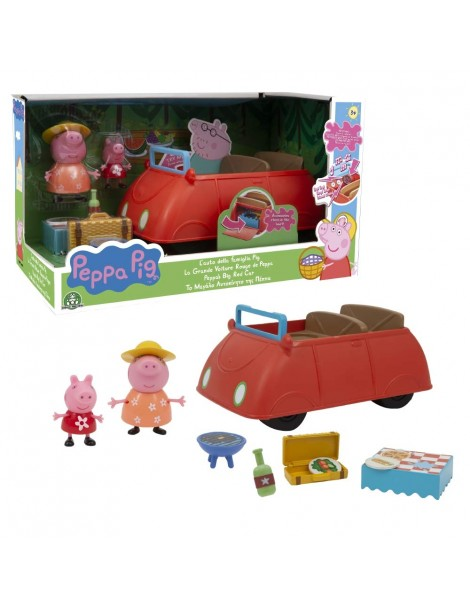Peppa Pig l'Automobile della Famiglia Pig con Suoni e 2 Personaggi di Giochi Preziosi PPC48000