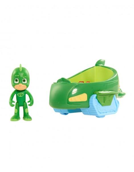 Super Pigiamini PJ Masks Veicolo Gecomobile con Personaggio Geco