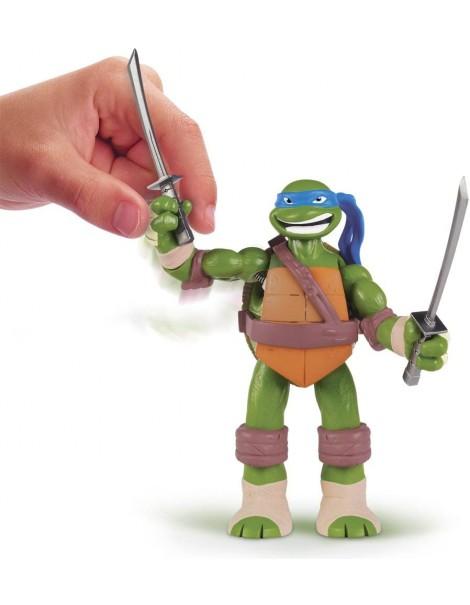 Giochi Preziosi - GPZ91160/1 - Turtles - Leonardo Deluxe 15cm C/Suoni