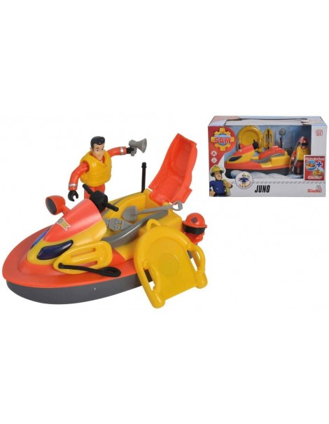 Sam il Pompiere con Veicolo Moto ad Acqua Juno , Simba 109251048038