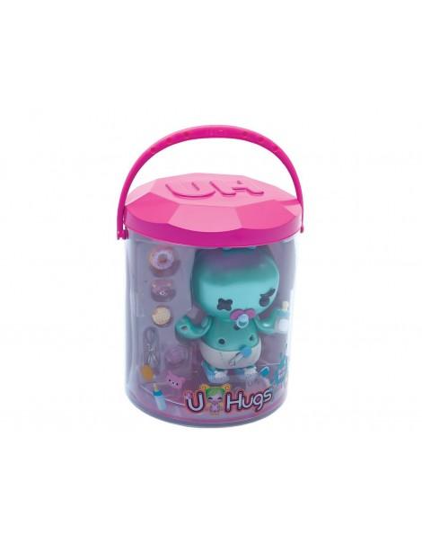 Giochi Preziosi - U Hugs, Bambola da Personalizzare Scary Baby con Accessori Attacca e Stacca, Multicolore