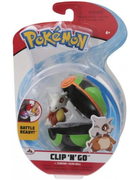 Giochi Preziosi Pokemon Pokemon Clip'n Go con Personaggio Cubone & Dusk Ball PKE15000