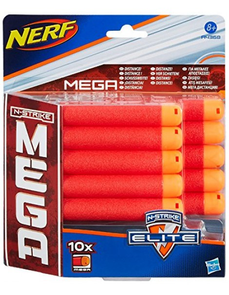 Nerf Mega - Ricarica 10 Dardi A4368 di Hasbro