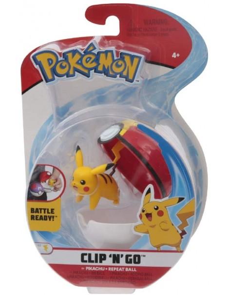 Giochi Preziosi Pokemon Pokemon Clip'n Go con Personaggio Pikachu & Repeat Ball  PKE15000