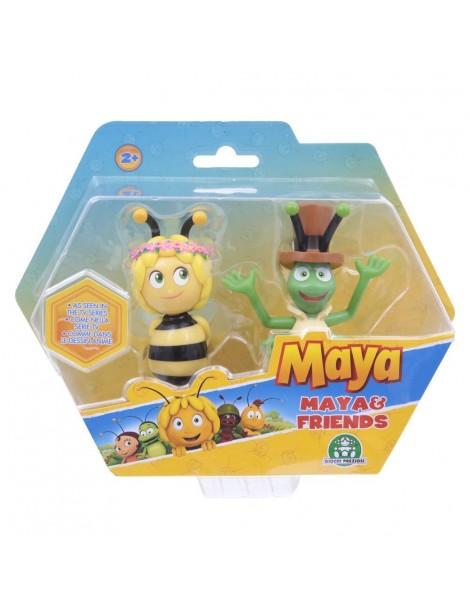 Ape Maia - Coppia di Personaggi Maia con Coroncina e Grillo Flip di Giochi Preziosi MAH05000