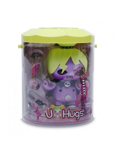 Giochi Preziosi - U Hugs, Bambola da Personalizzare Sweety Rock con Accessori Attacca e Stacca, Multicolore