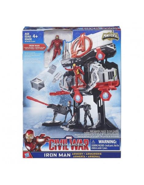 Marvel - Captain America: Civil War - Playset: il Rifugio delle Armi di Iron Man