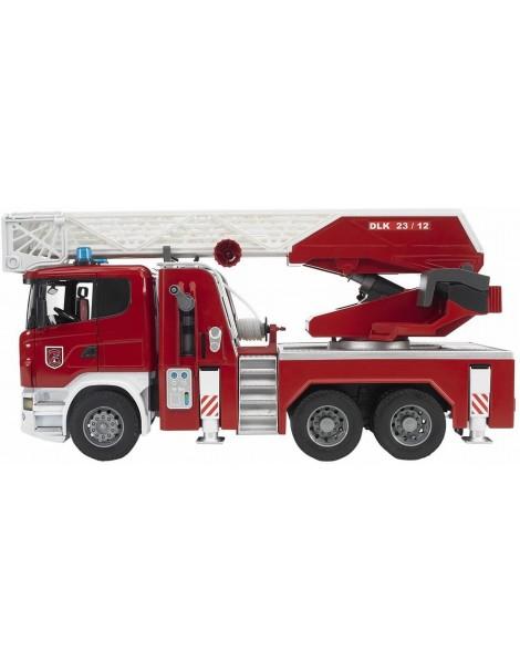 Bruder 03780 ,Camion Pompieri Scania R Serie S Autopompa Luci/Suoni, Porte Apribili scala 1/16