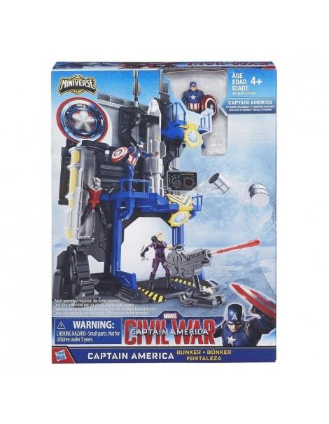 Marvel - Captain America: Miniverse Playset - Rifugio di Captain America B6739-B5770