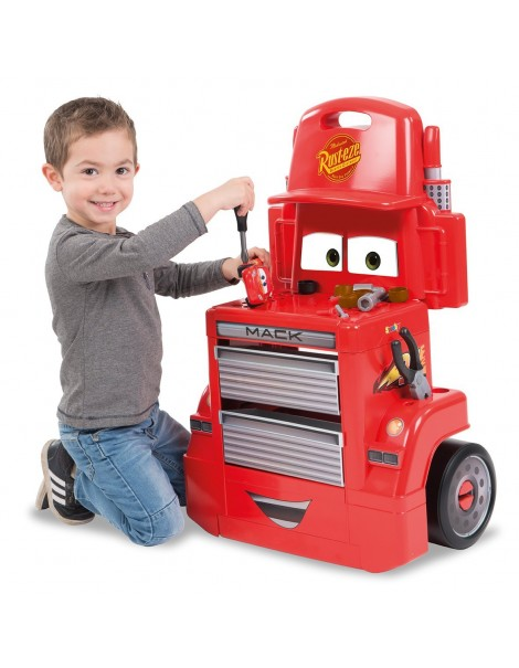 Cars 3 Mack Truck Trolley con attrezzi di Smoby 7600360208