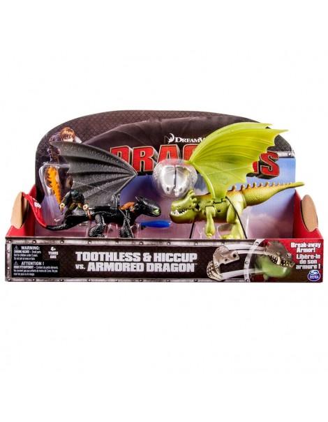 Spinmaster 6024753 - Dragons Sdentato Contro Armored Dragon