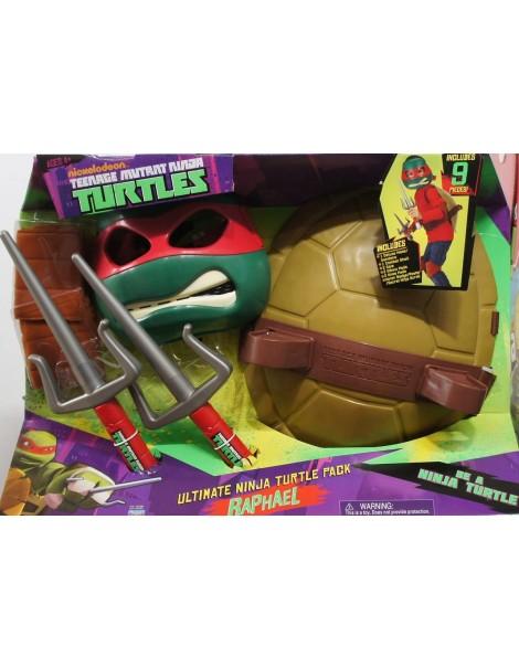 Tartarughe Ninja -Teenage Mutant Ninja MASCHERA , ARMA , COMBAT SHELL RAFFAELLO