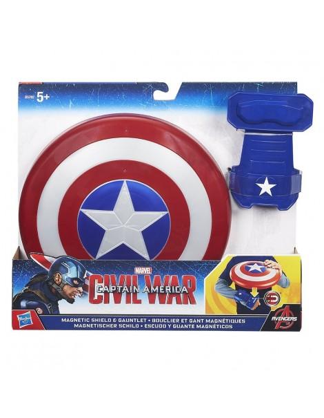 Captain America - Scudo Base con guanto magnetico