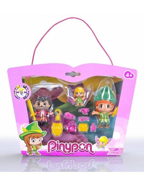Famosa 700012738 - Pinypon Peter Pan/Uncino/Trilli Personaggi