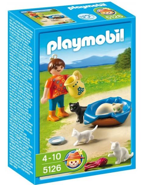 Playmobil 5126 - Bambina con gattini