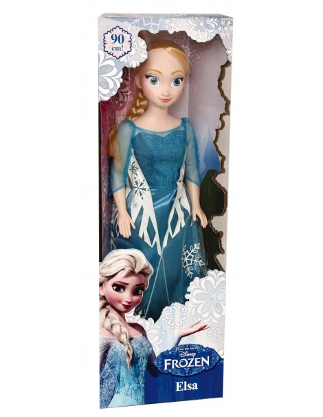 Bambola Frozen Elsa gigante 90 cm di Giocheria HDG70200