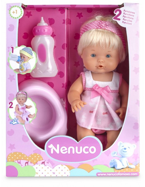 Famosa 700012665 - Nenuco Bevi e Bagna Bambola, Femminuccia, 30 Cm