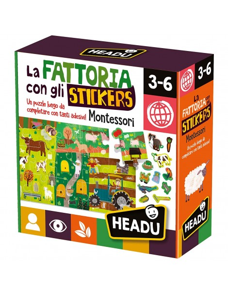 La Fattoria con Gli Stickers Montessori, Headu IT23318