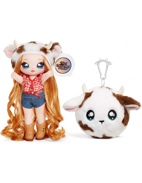 Na! Na! Na! Surprise 2-in-1 Fashion Doll And Plush Purse Series 3 – Annabelle Moooshe ( pecora), Giochi Preziosi NAA08000