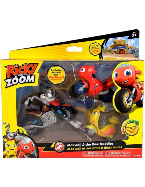 Nuovo Ricky Zoom -  in blister con personaggi Scootio - Maxwell - Ricky Zoom lungh e circa 9 cm cod rcy 02000