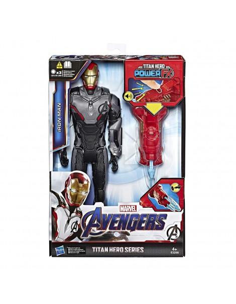 Marvel Avengers Endgame Iron Man Titan Hero con Power FX incluso, E3298 Hasbro