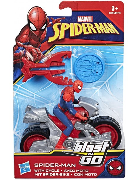 Marvel Spiderman - veicolo Blast & Go Spider Man, B9994-B9705 Hasbro