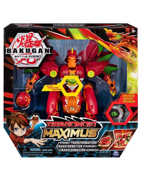 Bakugan- Dragonoid Maximus Drago Gigante Trasformabile di Spin Master 6051243