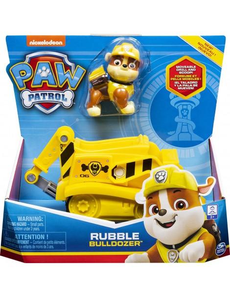 Paw Patrol - Rubble Bulldozer  compreso di personaggio di Spin Master 6061794