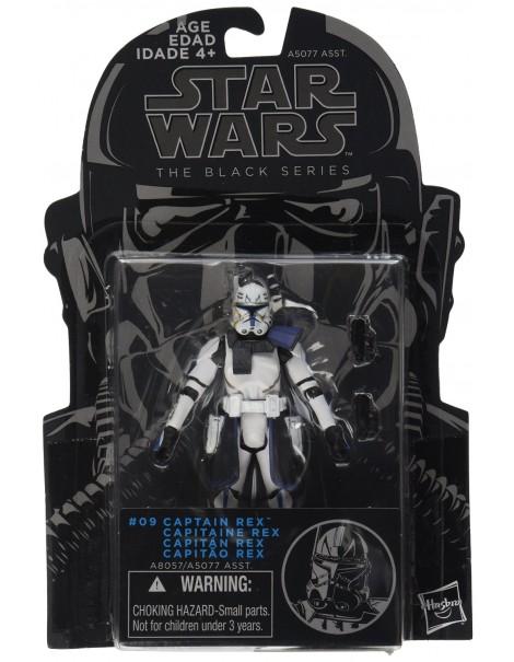 Star Wars, The Black Series, Clone Wars Captain Rex Action Figure #09, 3.75