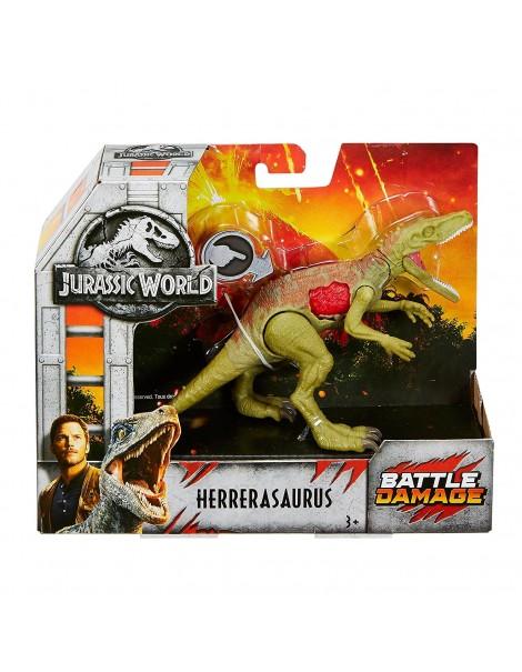 Jurassic World dinosauro Herrerasauro - Ferite da Combattimento di Mattel FNB34