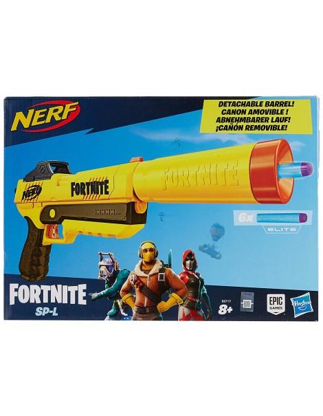 Nerf Fortnite SP-L, Blaster Ufficiale con 6 Dardi, E6717 Hasbro