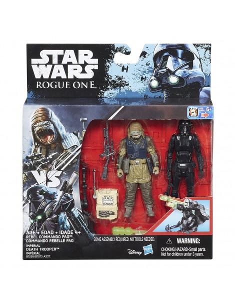Star Wars Rogue One Imperial Death Trooper & Rebel Commando Pao Deluxe B7259-B7073 di Hasbro