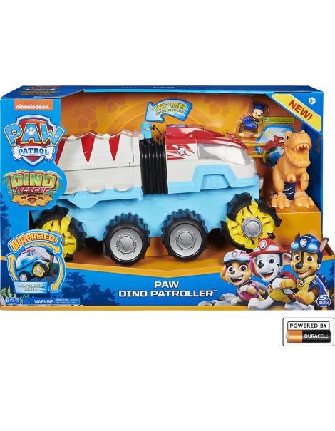 PAW Patrol, Dino Patroller veicolo motorizzato con Chase e T. Rex, Spin Master 6058905