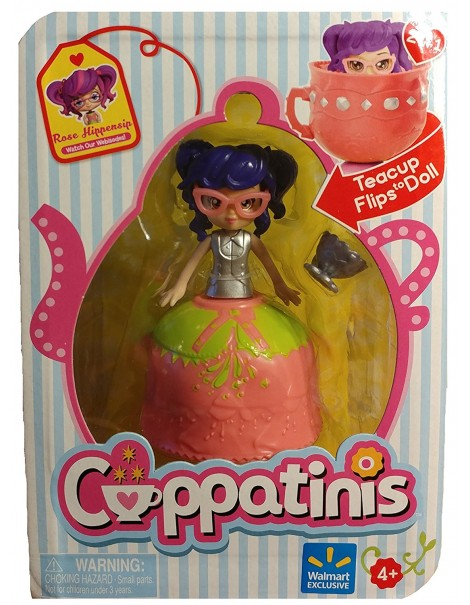 Cuppatinis Mini Doll Cuppatinis ROSE HIPPENSIP  - Teacup Flips to Doll di Giochi Preziosi