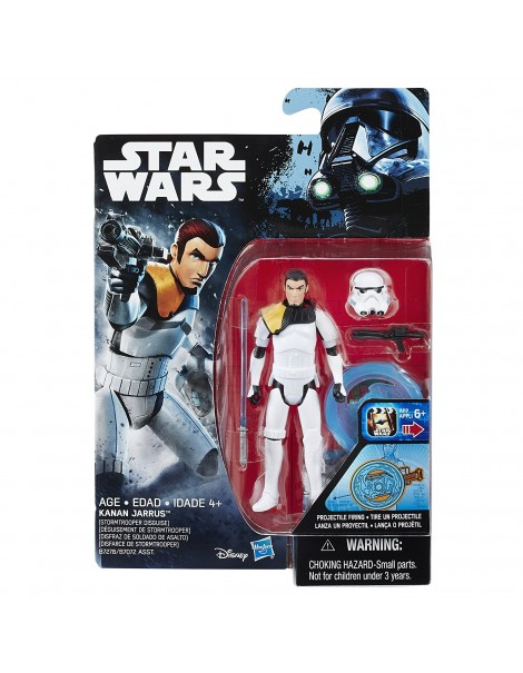 Star Wars Rebels Kanan Jarrus (Stormtrooper travestimento) 9.5cm figura di azione B7278-B7072